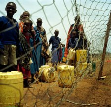 Maasai drought Collecting-water